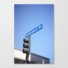 hollywood blvd sign (mobile) Canvas Print