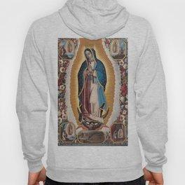 Virgin of Guadalupe, 1720 by Antonio de Torres - Mexican Art Hoody