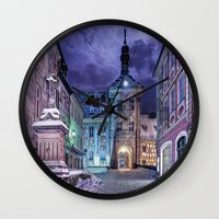 gotham Wall Clocks featuring Gotham by Robin Curtiss