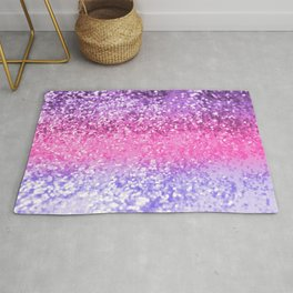 Unicorn Girls Glitter #6 #shiny #decor #art #society6 Rug