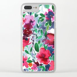 Evie Floral Clear iPhone Case