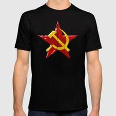 Soviet symbol MEDIUM Black Mens Fitted Tee