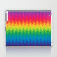 neon rainbow feather chevron  Laptop & iPad Skin