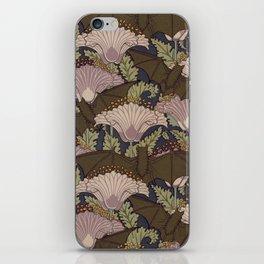 Vintage Art Deco Bat and Flowers iPhone Skin