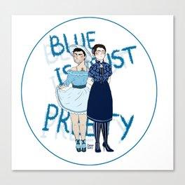Blue is just pretty print Canvas Print
