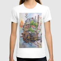 calcifer T-shirts featuring Howls Moving Castle Painting 2 by Little Miss Marikit