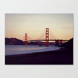 Dawn over the Golden Gates Canvas Print