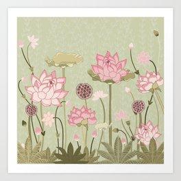 Lotus in Pastels Art Print