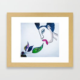 Oya's Kiss Framed Art Print