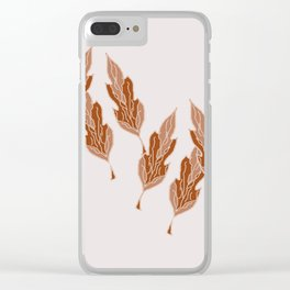 All the Leaves are Brown Clear iPhone Case