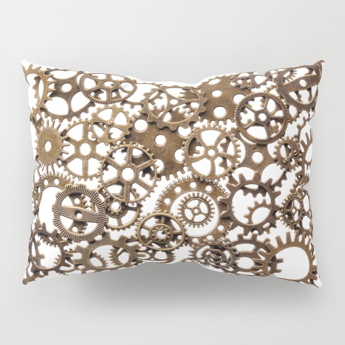 Group of brass pinions Pillow Sham