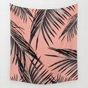 Black Palm Leaves Dream #5 #tropical #decor #art #society6 by anitabellajantz