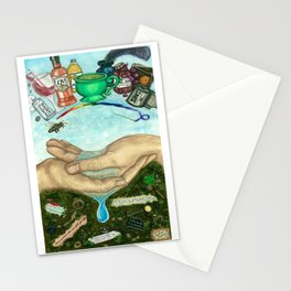 Ten of Cups (Amanda Palmer tarot deck) Stationery Cards