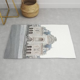 French Building City Of Lille France Photo | Parisian Architecture Art Print | Travel Photography Rug