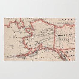 Vintage Map of Alaska (1883) Rug
