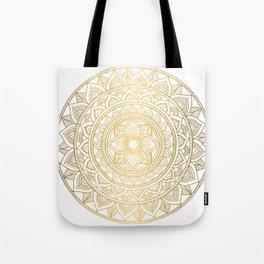 Gold Bali Mandala Tote Bag