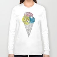 ships Long Sleeve T-shirts featuring Loose Drips Sink Ships by The Lola x Kenneth Collaboration