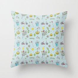 Flower Spring Pattern Throw Pillow