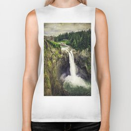 Snoqualmie Falls, Washington Biker Tank