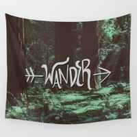 wander Wall Tapestries featuring Wander by Leah Flores