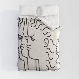 Poster-Jean Cocteau-Three profiles. Comforters