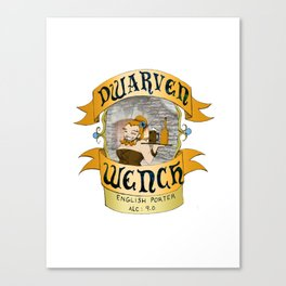 Dwarven Wench Canvas Print