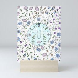 Chanson de la lune bleue Mini Art Print