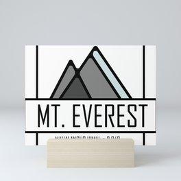 Mount Everest Design Mini Art Print