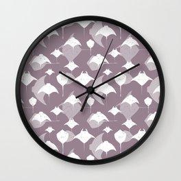 Sea of Cortez Lavender Grey Rays Pattern Wall Clock