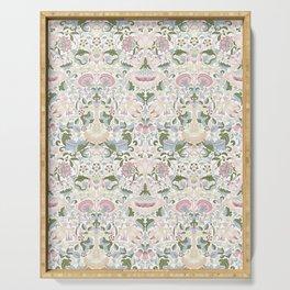 William Morris Pastel Pink Lotus Flower Pattern Serving Tray