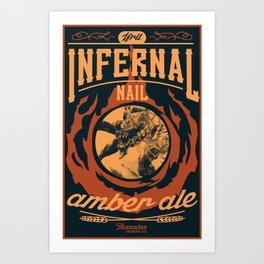 Infernal Nail Amber Ale   FFXIV Art Print