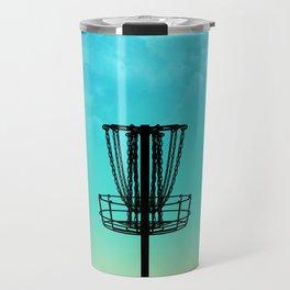 Disc Golf Basket Silhouette Travel Mug