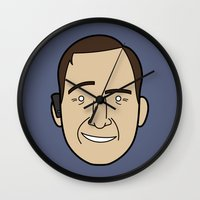 lawyer Wall Clocks featuring Faces of Breaking Bad: Saul Goodman by Rob Barrett — Nice Hot Cuppa