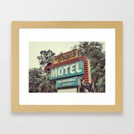Sands Motel Framed Art Print