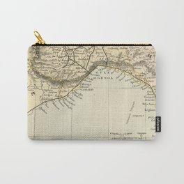 Vintage Retro Map Northern Italy Carry-All Pouch