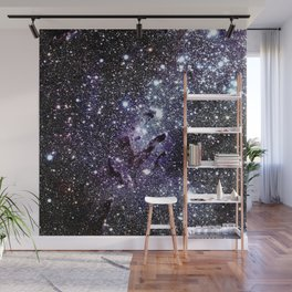 The Eagle Nebula : Pillars of Creation Deep Dark Blues & Purples Wall Mural