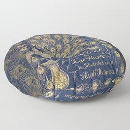 Pride and Prejudice by Jane Austen Vintage Peacock Book Cover Floor Pillow