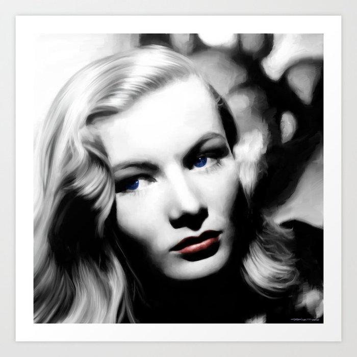 Veronica Lake Portrait #1 Art Print
