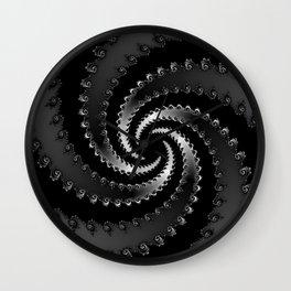 Dark Vortex Fractal Wall Clock