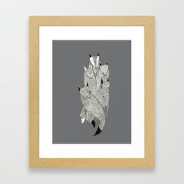 Foxes & Badgers Framed Art Print