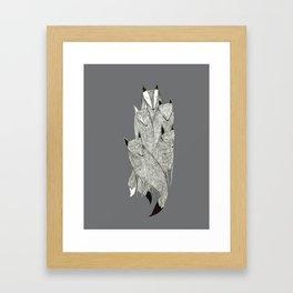 Foxes & Badgers Framed Art Print