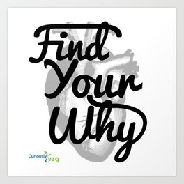 Find Your Why - Black Text Art Print