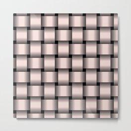 Large Pastel Pink Weave Metal Print