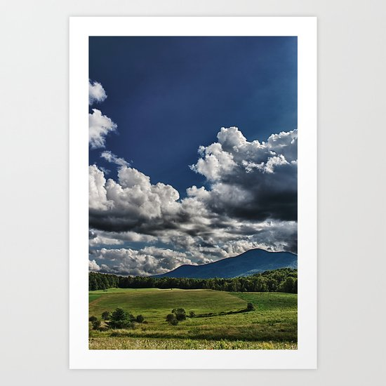 Cutting in the Valley Art Print