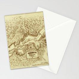 Vintage Yosemite Map 1870 Stationery Cards