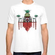 pineapple architecture 2 White SMALL Mens Fitted Tee