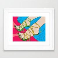 feet Framed Art Prints featuring Feet by Mauro Squiz Daviddi