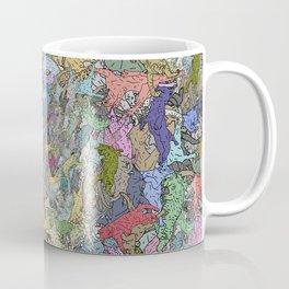 Colorful Flying Cats Coffee Mug