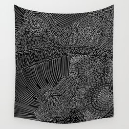 tiny lines Wall Tapestry