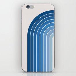 Gradient Arch - Blue Tones iPhone Skin